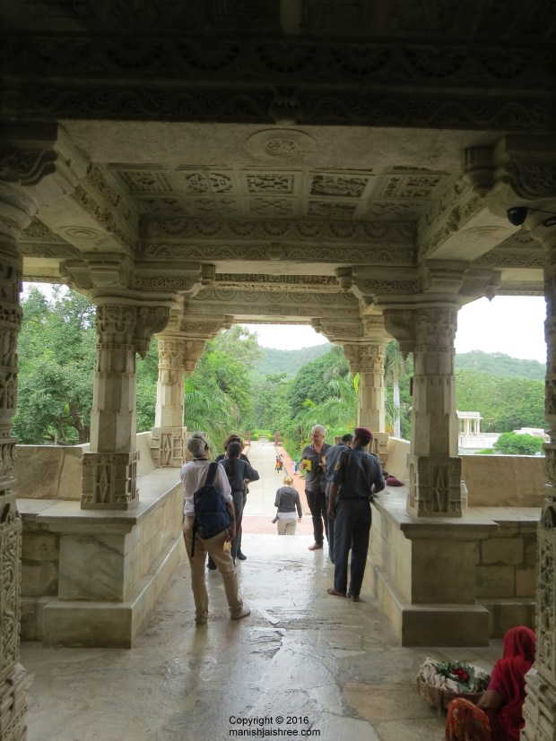 A view from inside the Ranakpur temple