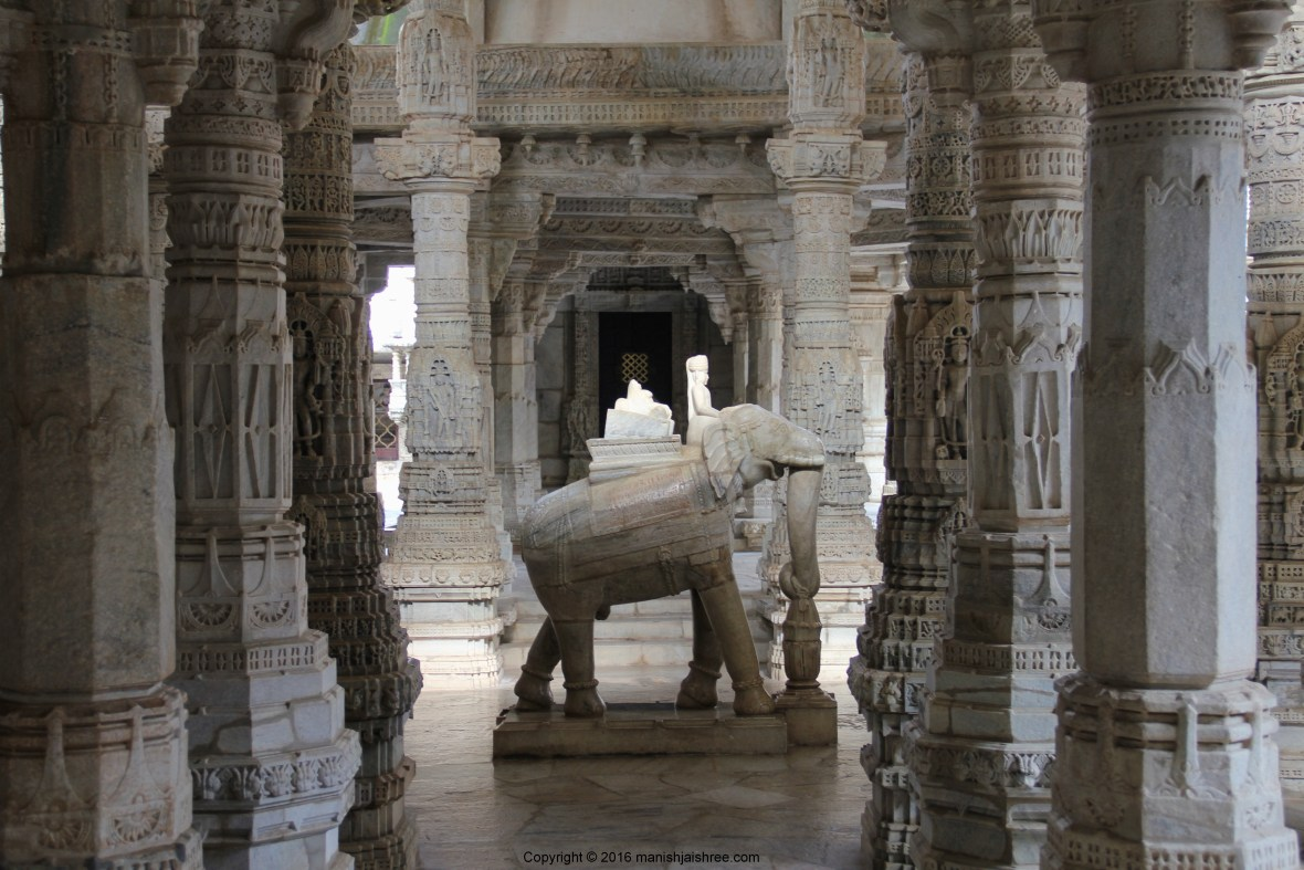 Another statue of elephant with Marudevi, Ranakpur