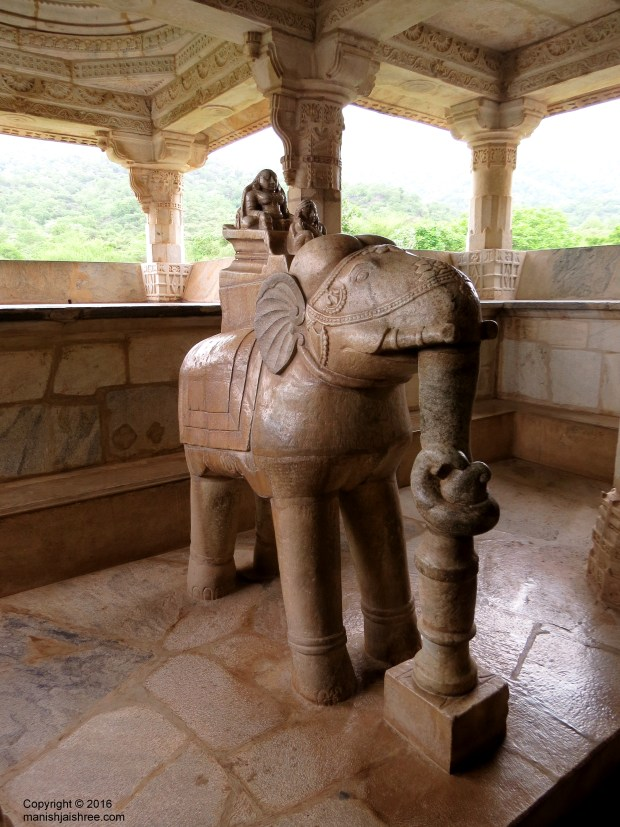 The elephant with Marudevi, Mother of Lord Adinath, Ranakpur