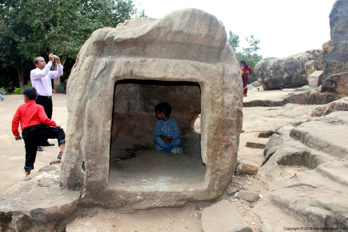 Tanmay in Pavan Gumpa, Udayagiri Cave Complex, Odisha
