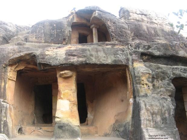 A double storey cave, Udayagiri Cave Complex, Odisha