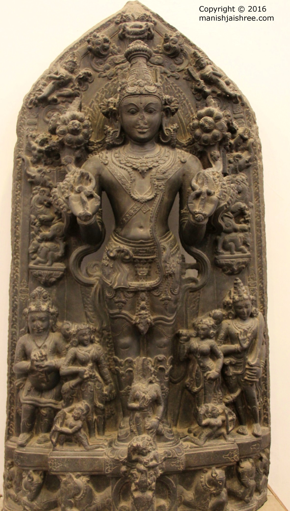 A statue of Sun-God in National Museum, N.Delhi