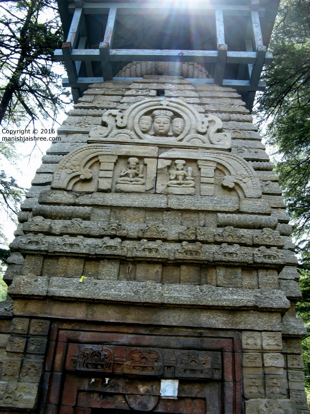 Kuber Temple at Kuber temple Complex. Lakulisha can be seen carved on the outer wall, Jageshwar