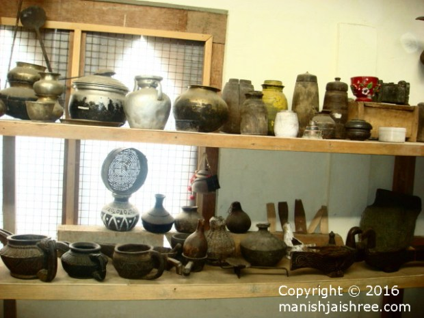 Some old traditional utensils, tribal heritage museum, Munsiyari