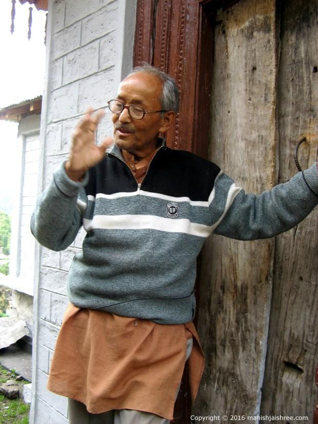 Sweet spoken Mr Pangtey at Tribal Heritage Museum, Munsiyari
