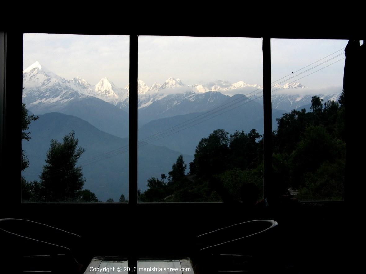 The room with a view, Zara Resort, Munsiyari