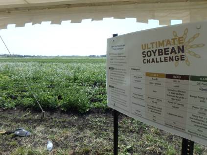 The Ultimate Soybean Challenge as a tour stop at the 3rd annual SMART Day field tour.