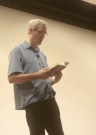 English professor Mark Allister reads from his new book Chasing the Light: The Cloud Cult Story. The book chronicles the journey of the Minnesota indie band Cloud Cult. The band has played at St. Olaf multiple times and remains popular with the student body.