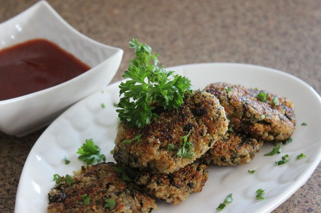 Crispy Quinoa Spinach Patties