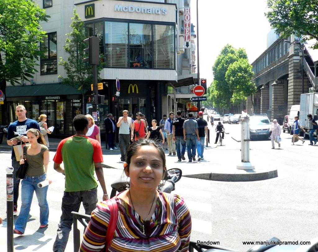Macdonalds in Paris,Selfie in Paris
