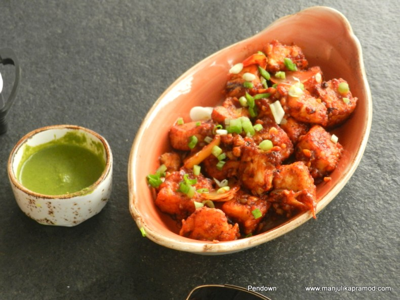 Chilly Paneer-La Brise Goa, Fun place, shack experience