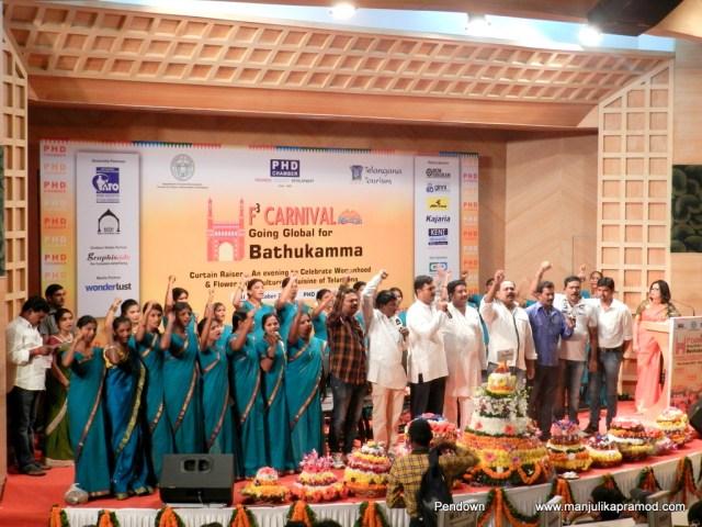 Telanagana, Bathukamma, Celebrations in Delhi