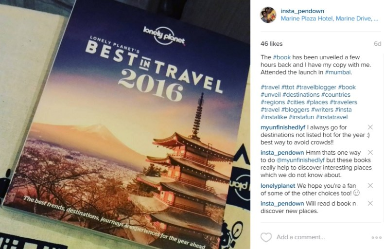 Lonely Planet, Mumbai, Best in Travel 2016, Marine Plaza Hotel