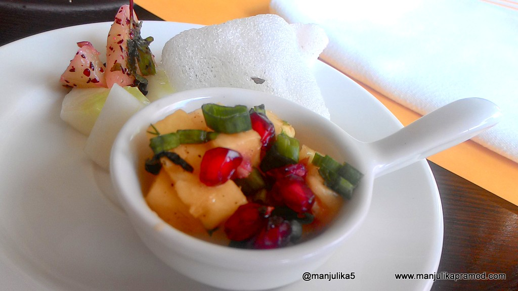 Novotel Imagica, The first Theme park hotel of India, PIneapple and pomegranate