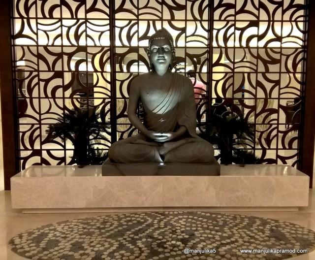 Novotel Imagica, Statue of Gautam Buddha, Beautiful hotel in Mumbai, Fun and entertainment for children