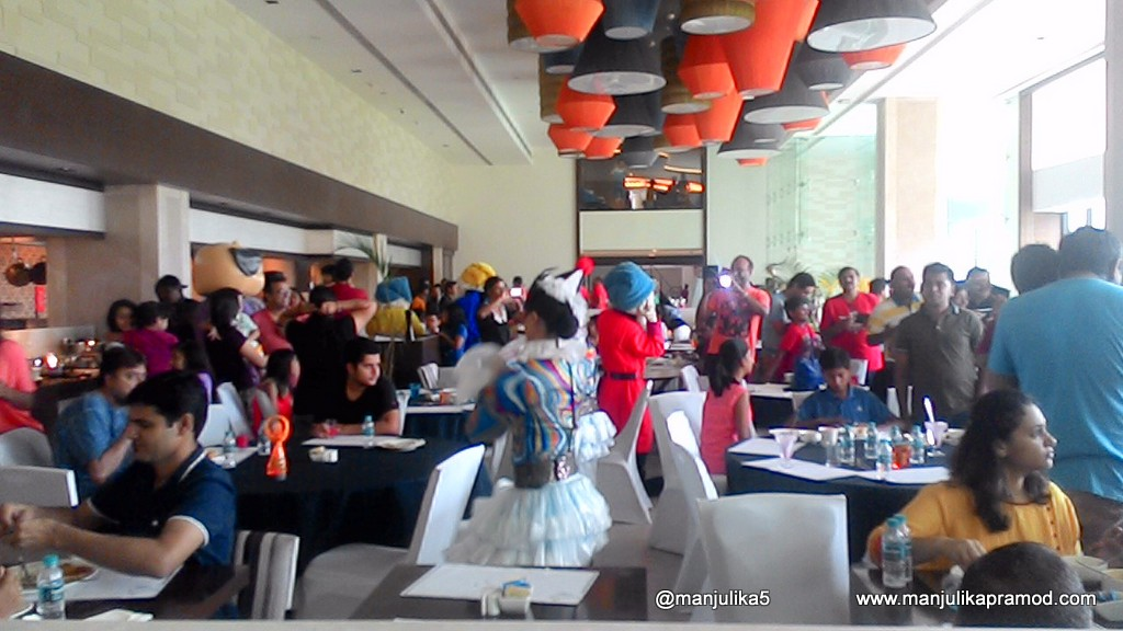 Irolic parade at the breakfast time was superb fun