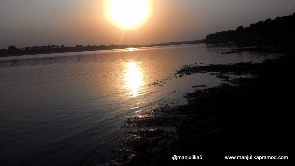 Sunset in the Chambal River- Uttar Pradesh