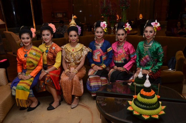 A beauty contest is held before the Krathong celebrations