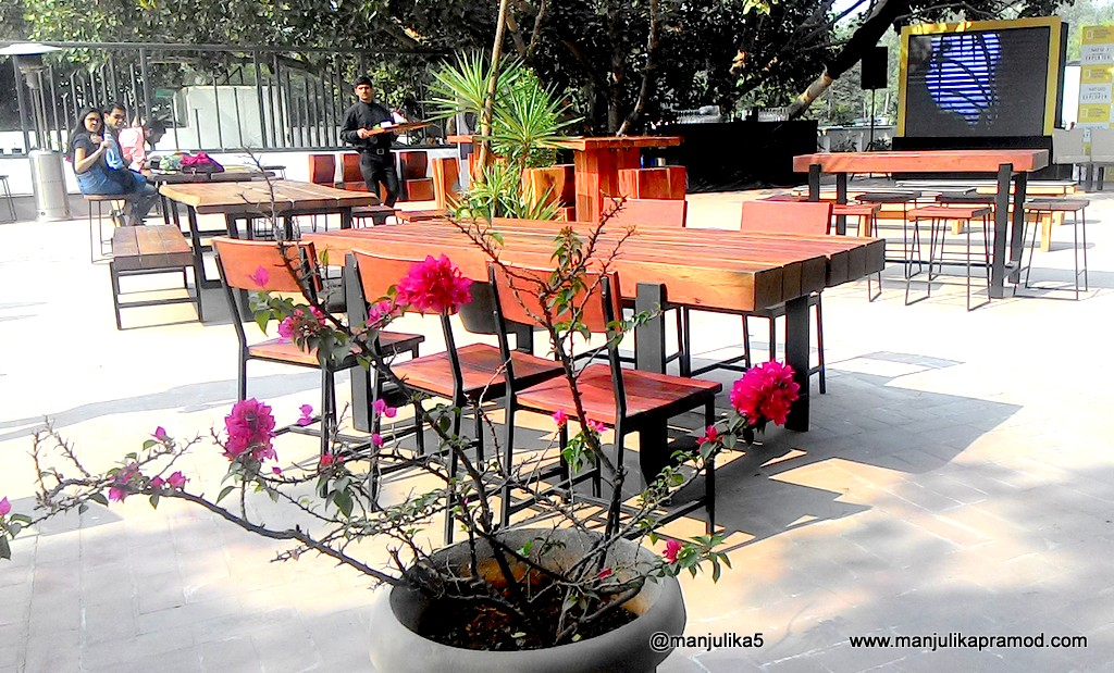The terrace setup was lovely for the bloggers meet