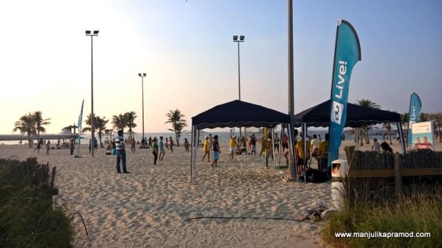 Al Mamzar Park-The white sand and the beach