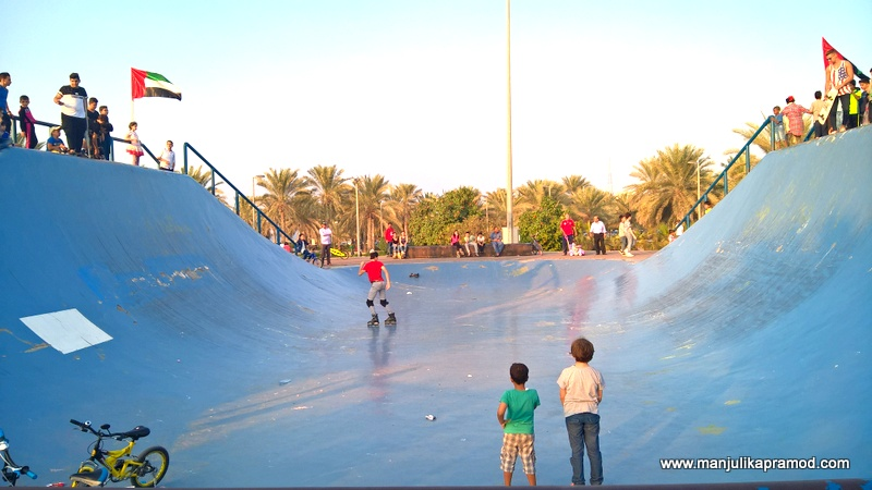 Al Mamzar Park in Dubai -Skating for children