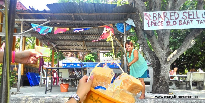Bread loaf, Fishes, Canal tour, Day tour in Bangkok