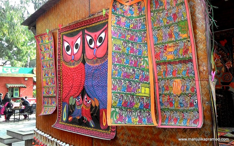 Owl Painting, Wall Art, Dilli Haat,