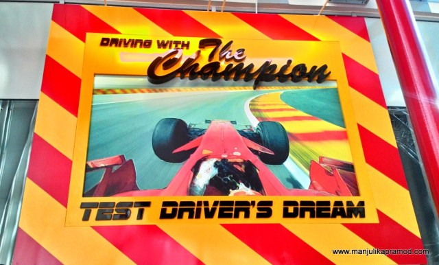 Driving with the Champion, Ferrari World, Yas Island