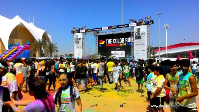 Colour Run-Yas Marina Circuit