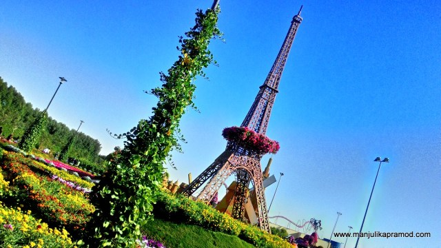 Eiffel Tower, Dubai, Miracle garden