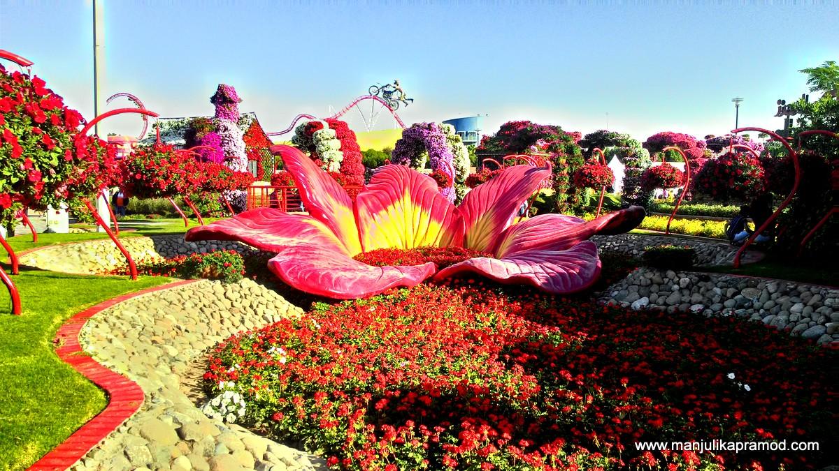 Floral arrangements, 45 million flowers, Dubai,
