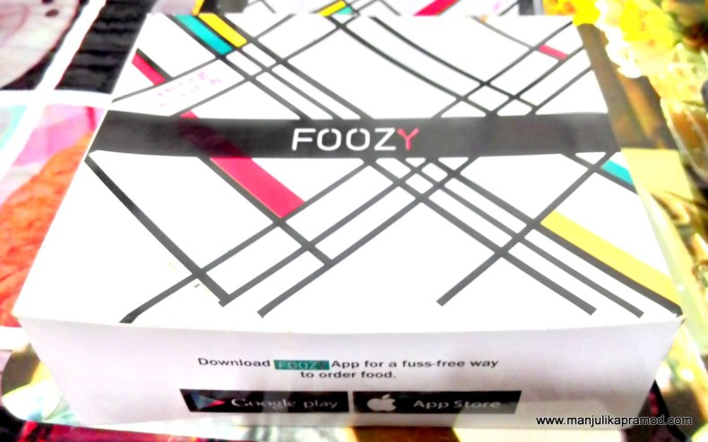 When we ordered from FOOZY