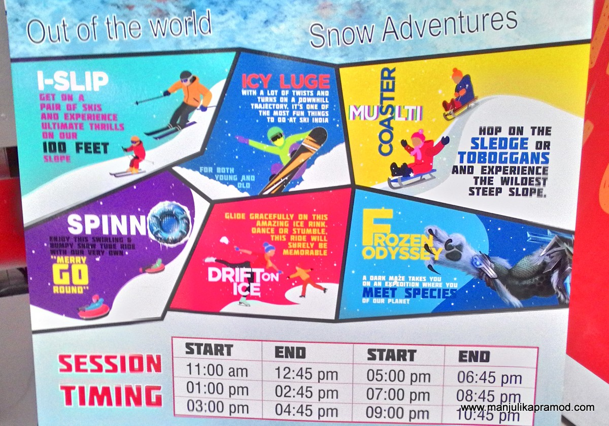 Ski India, Tickets, Sessions, Snow