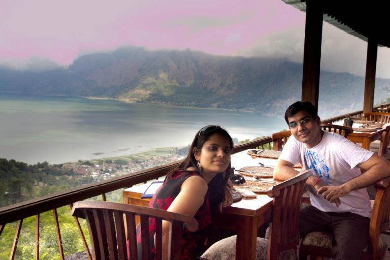 Honeymoon in Bali-Lunch overlooking Mount Batur