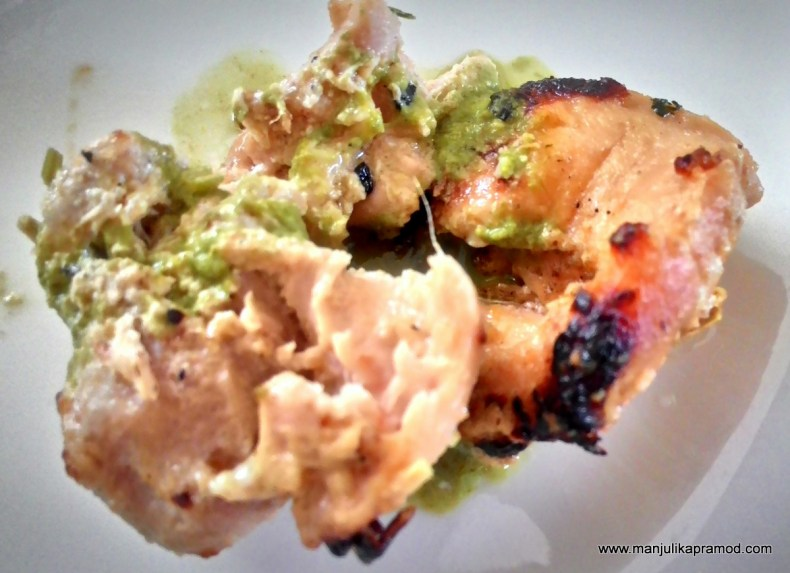 Chicken Tikka as part of starters.