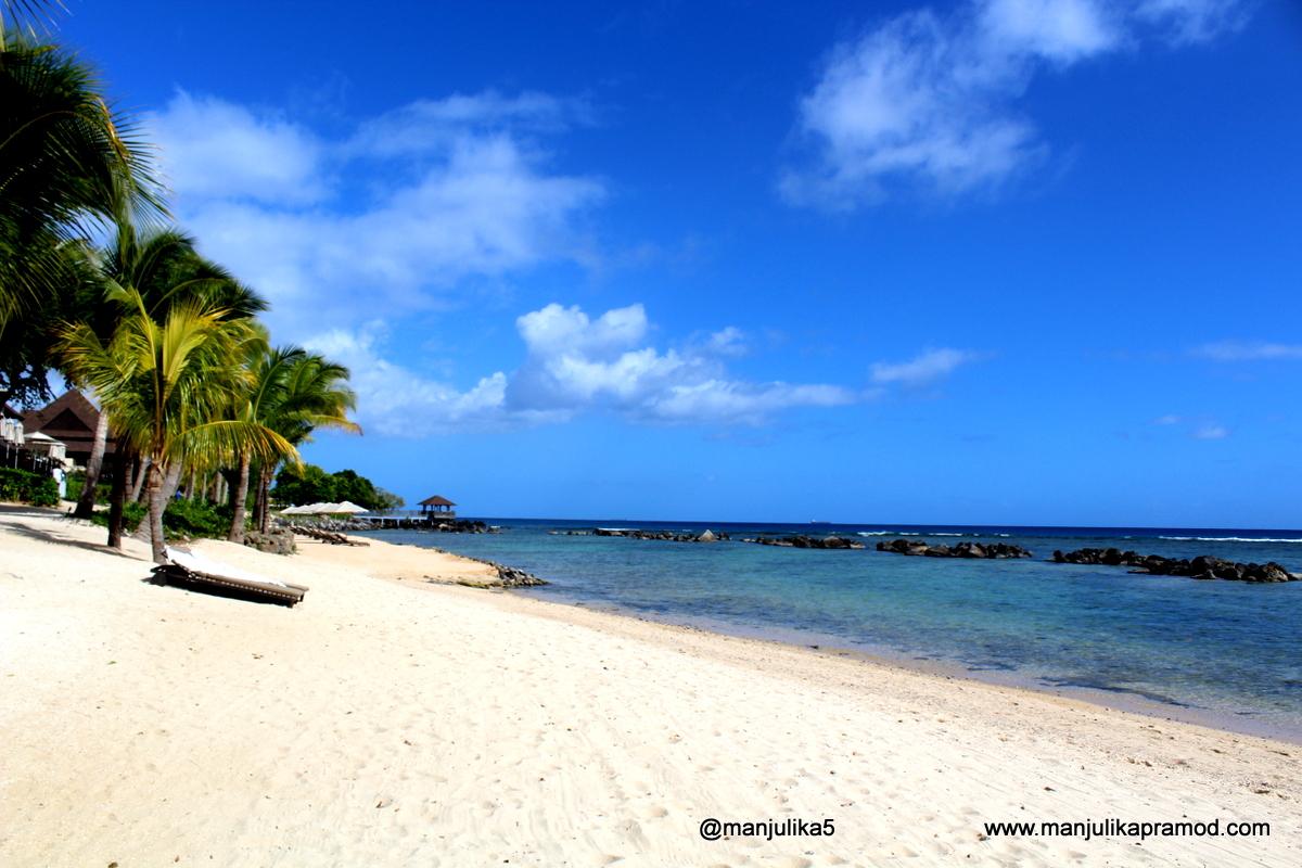 White sandy beaches of Mauritius