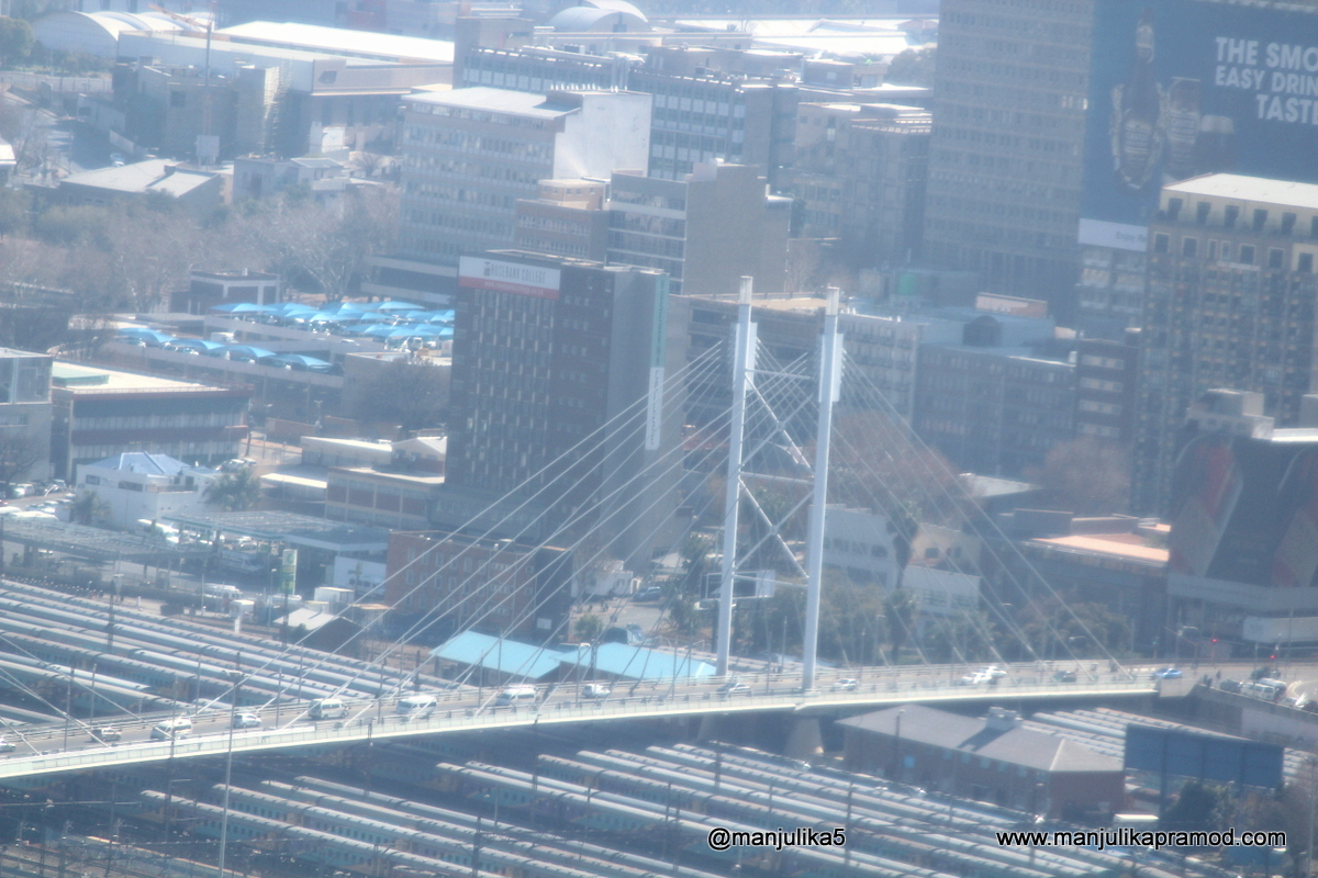 Nelson Mandela Bridge as seen from carlton city center