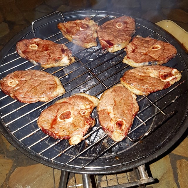 Lamb chops on the Braai