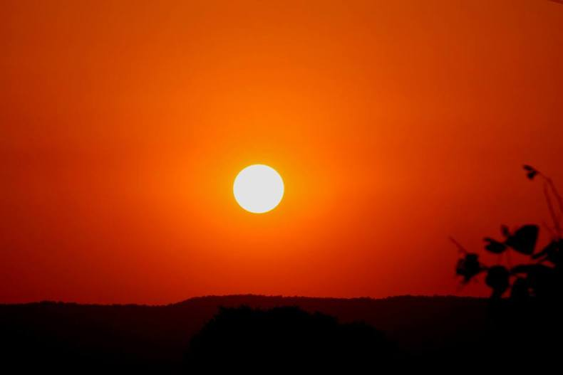 Sunset in Alwar