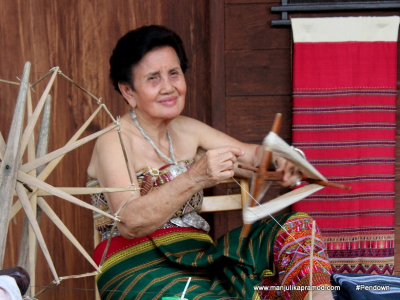 The lady who spinned the yarn