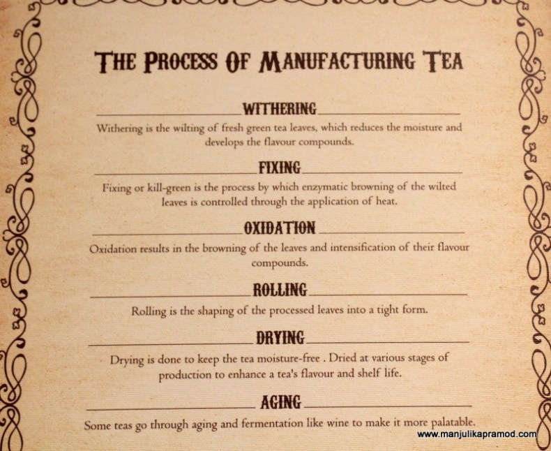 The process of Manufacturing Tea.
