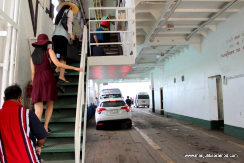 As we climbed to the top floor, the cars took the lower floor