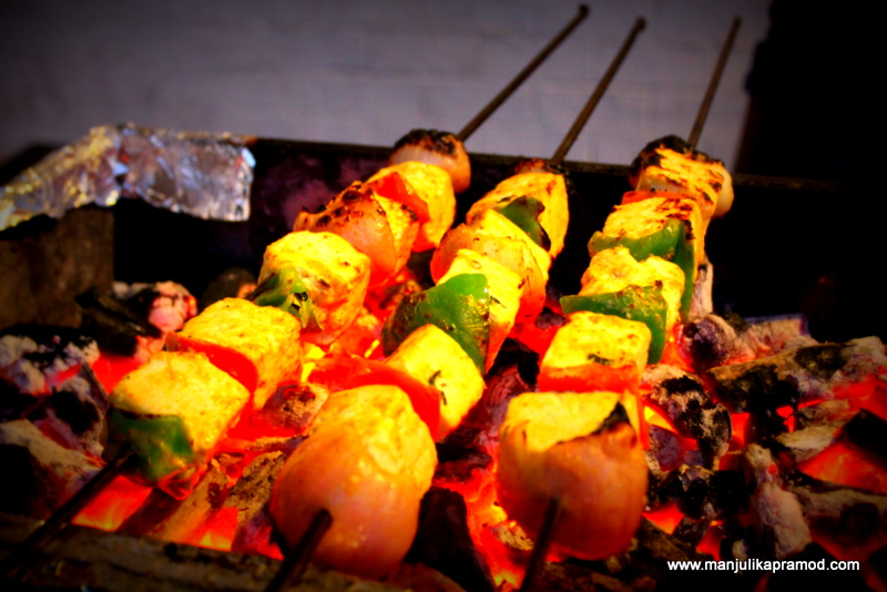 Paneer Tikka at Angaarey