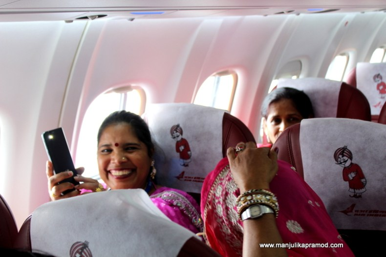The happy faces of the Air India employees