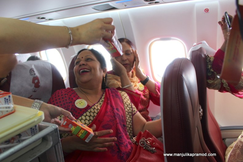 8th March, Air India flight