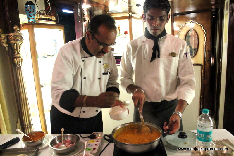 Cooking class on a moving train