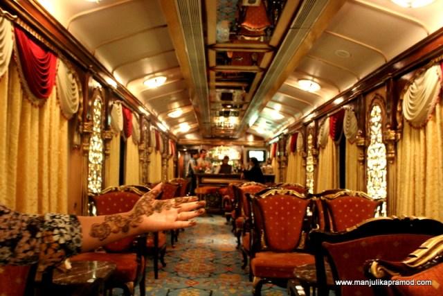 The Mehndi night onboard the train