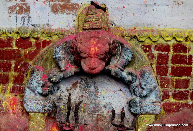 Such lovely carvings make for temples in Panauti
