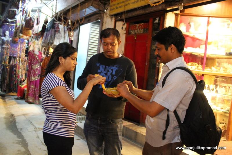 Street food at Thamel street