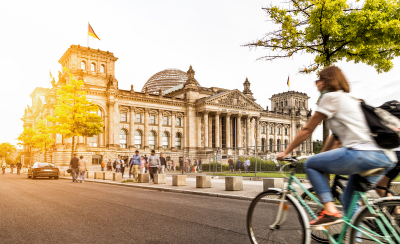 Berlin, Europe, Cycling to Office